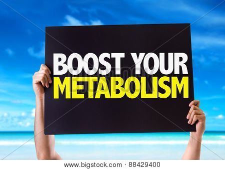 Boost Your Metabolism card with beach background