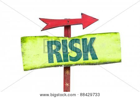 Risk sign isolated on white
