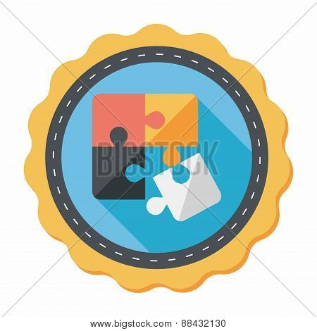 Puzzle Flat Icon With Long Shadow,eps 10