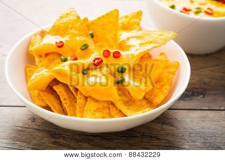 Tortilla Chips With Cheese And Chilis