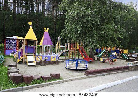 Playground in the Sanatorium Russia