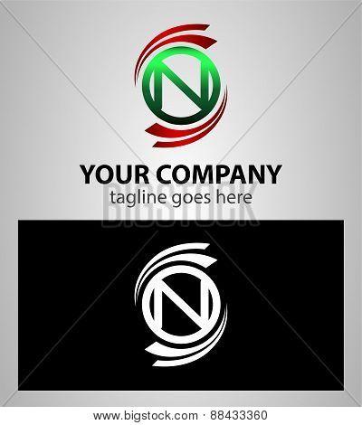 Set of Letter N logo symbol