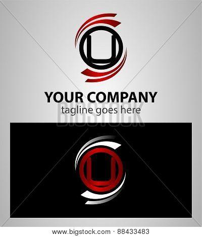 Alphabet Symbols And Elements Of Letter U logo