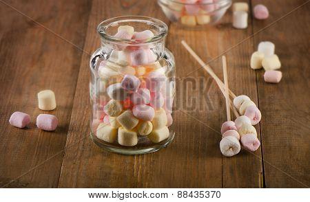 Sweet Marshmallows In A Jar.