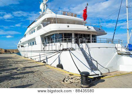 Beautiful big ship in the sea