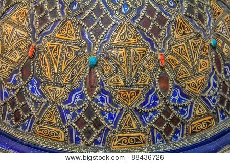 Hand Painted Moroccan Plate
