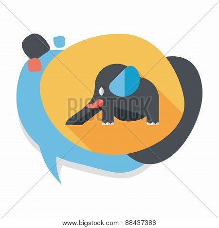 Elephant Slide Flat Icon With Long Shadow,eps10, stylish colors of vector illustration., stylish col