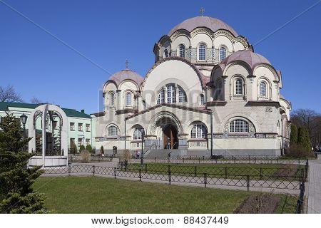 Church of Our Lady of Kazan. Resurrection Novodevichy Convent. Saint-Petersburg.