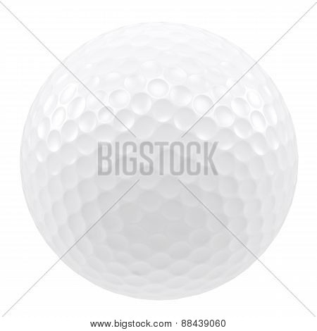 Golf ball isolated on a white background.