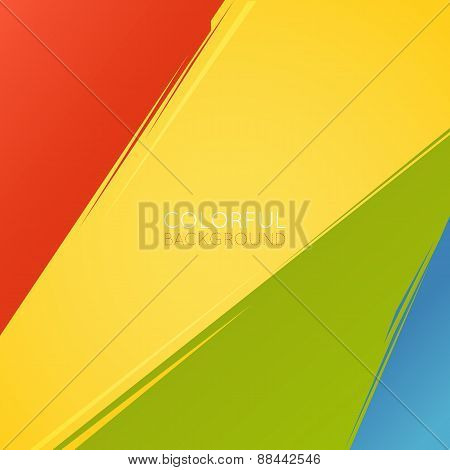 Abstract background. Multicolored paint stripes.