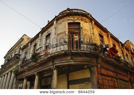 Eroded Havana Building