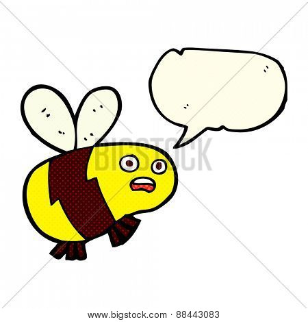 cartoon bee with speech bubble