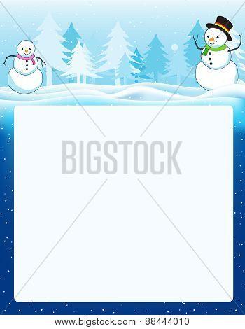 Winter Background  / Frame