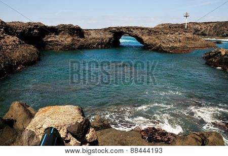 Natural Pool Of Baia And Its Arch