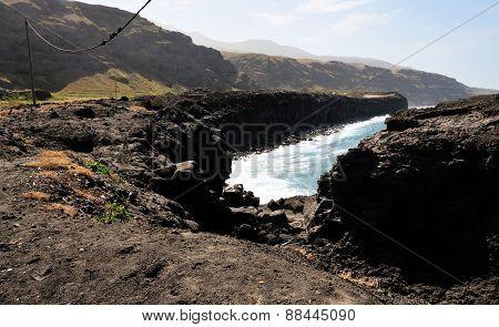 Creek Leading To Ocean