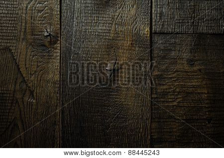 Rustic Dark Wooden Texture Background