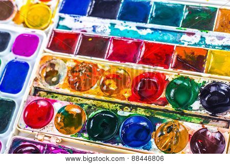 colorful background of watercolor