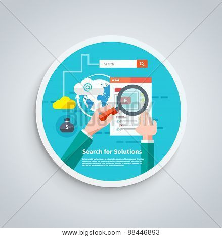 Search for solutions infographics banner