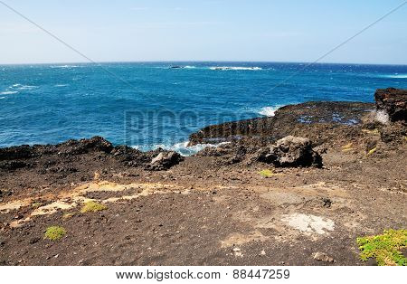 Natural Pool On The Volcanic Rocks