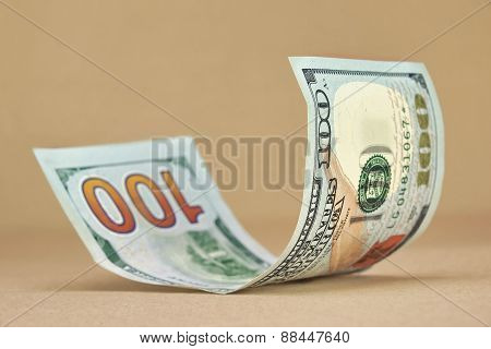 Rolled New American One Hundred Dollar Bill