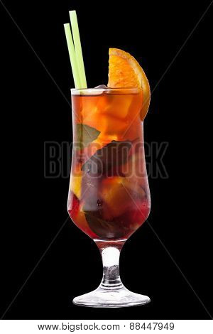 Cocktail On The Black Background
