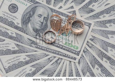 Dollars On White Background