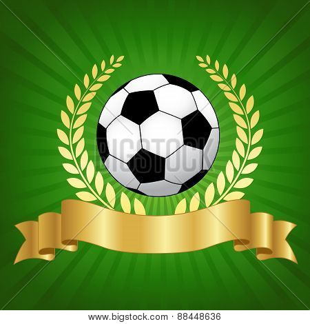 Soccer Championship Design With Football