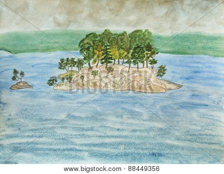 Karelia Landscape, Painting