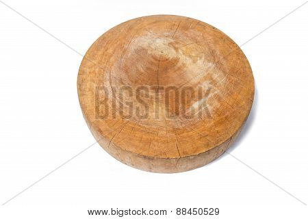 Cutting Board, Chopping Block On A White Background
