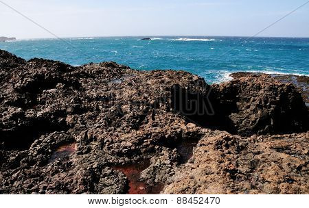 Volcanic Lava Rock Waterfront
