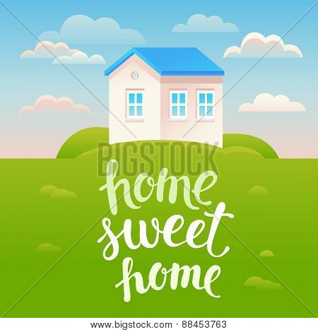 Vector Home Sweet Home Poster