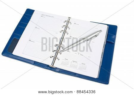 Notebook Calendar Isolated On White Background