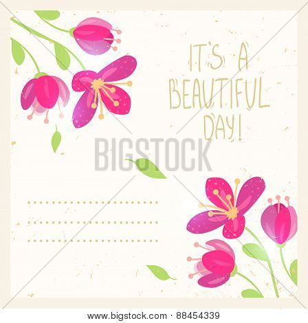 flowers design card