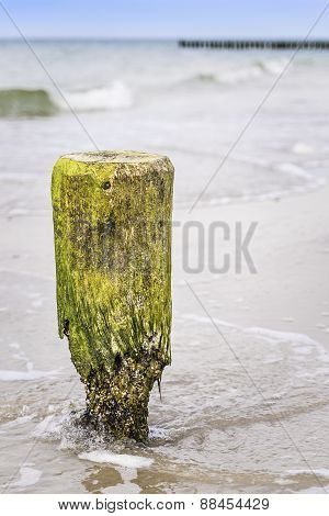 Breakwater Pole Baltic Sea