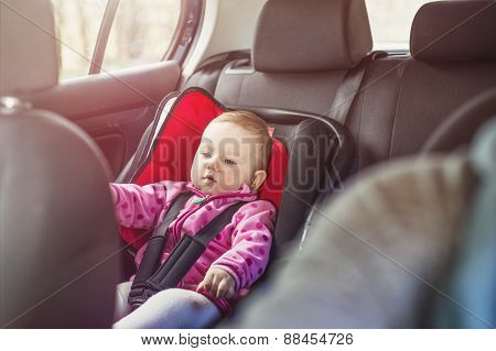 Mother and child in the car