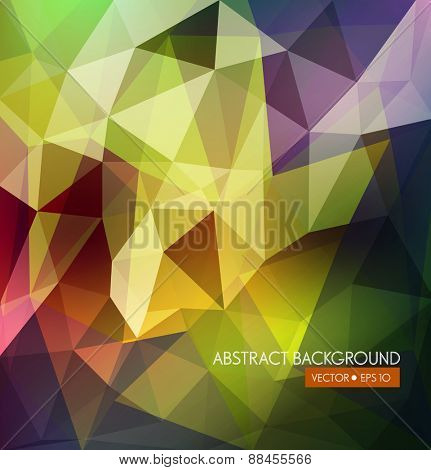 vector abstract background of colored triangles