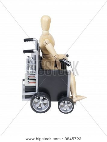 Sitting In An Electric Wheelchair