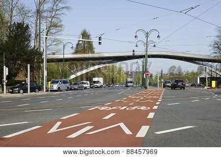 Bicycle Path And Traffic Lane