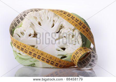 Cauliflower And Measuring Tape