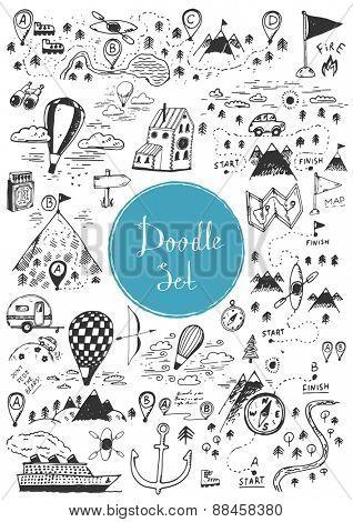Big doodle set - Travel, camping