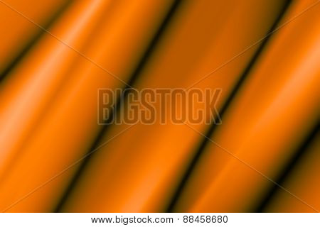 Illustration Of A Silky Orange Wavy Piece Of Material