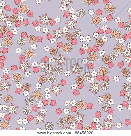 light background romantic floral seamless pattern.