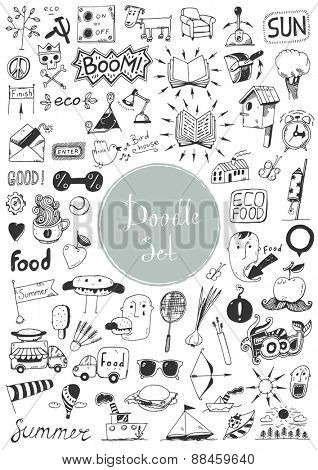 Big doodle set - Different elements