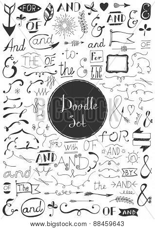 Big doodle set - Vintage elements