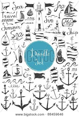 Big doodle set - Nautical