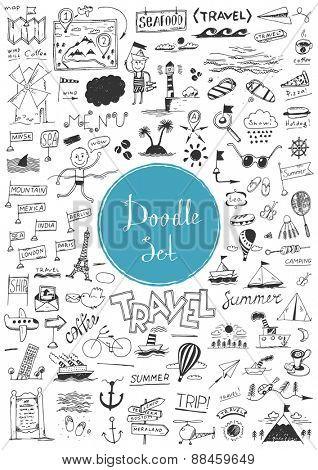 Big doodle set - Travel