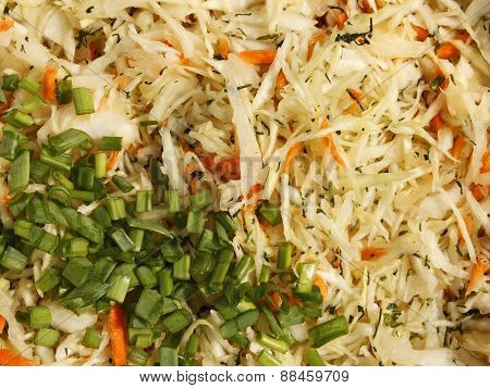 Mixture For Salad With Green Vegetables