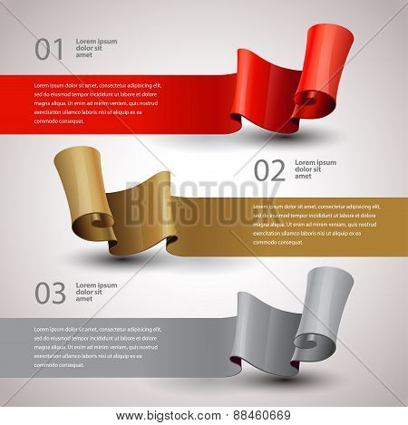 Vector Ribbons Set. Design Infographic Template. Vector Layout