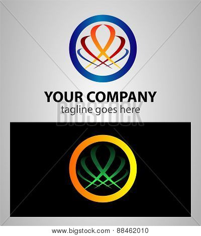 Circle sphere abstract logo. Vector. Global, business, media, technology icon