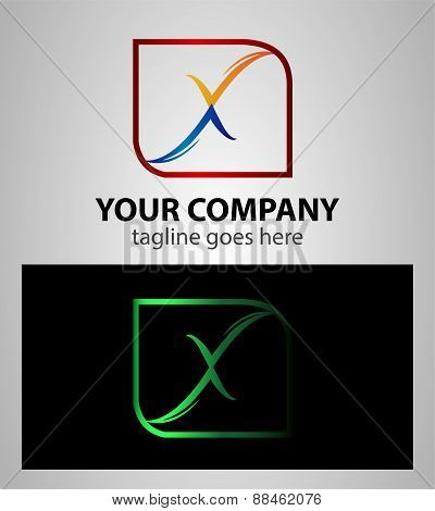Abstract letter X logo icon design element sign